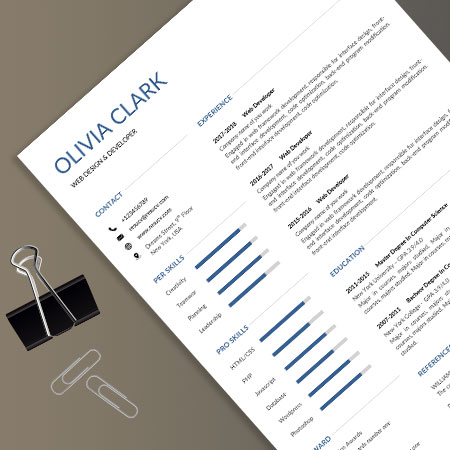 Elegant clean resume templates with cover letter and easy to edit