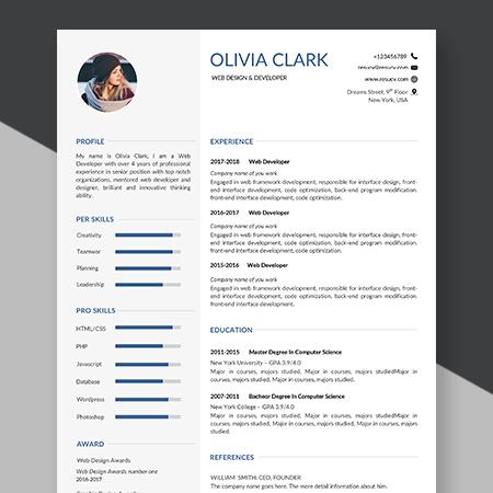 Simple resume/cv template word format